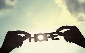 Quiet words of hope to astranger
